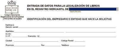 Legalización en soporte digital de los libros de contabilidad