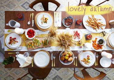 Plan para disfrutar el buen tiempo: mesa de otoño