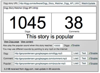 diggwatcher, monitoriza tus entradas enviadas a Digg
