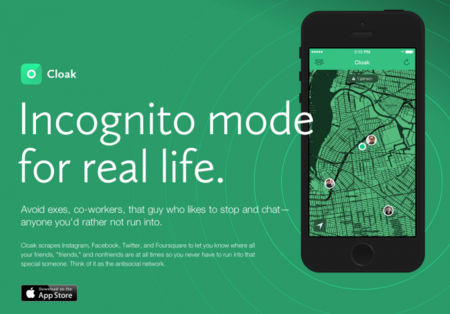 Cloak: una red social en tu iPhone para que seas... antisocial