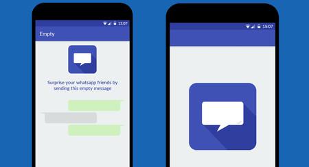 Con Empty puedes mandar mensajes vacíos en WhatsApp para gastar una broma a tus amigos