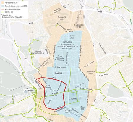 Plano de Zonas de aparcamiento en Madrid
