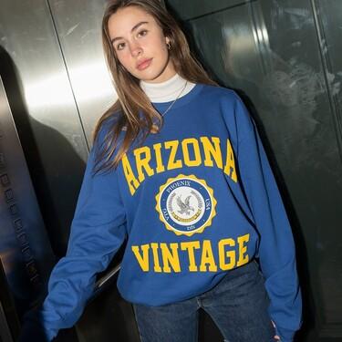 Siete sudaderas de Arizona Vintage con descuento para llevar con todos tus vaqueros y leggings de primavera