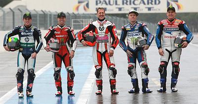 Michael Schumacher, John McGuinness, Pol Espargaró… juntos en Paul Ricard