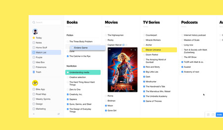 Esta aplicación web gratuita nos permite crear listas para planificar y organizar todo tipo de proyectos