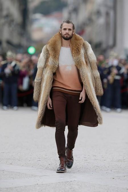 El Mejor Street Style De La Semana Trendencias Hombre Faux Fur Men Fall Winter 2019 06
