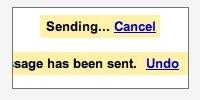 Deshacer el envío