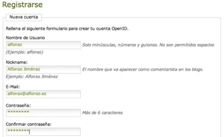 Xataka datos OpenID