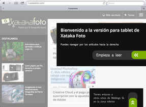 Xataka Foto estrena versión para tablets