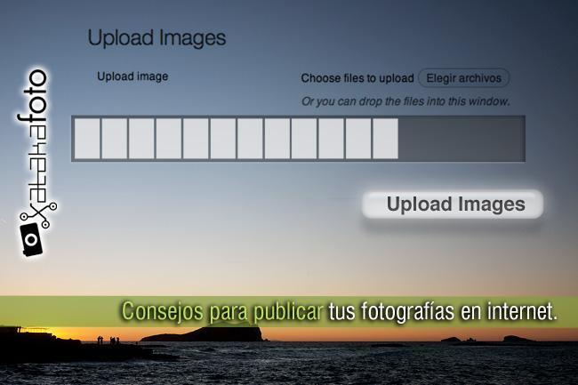 Publicar fotografías en internet