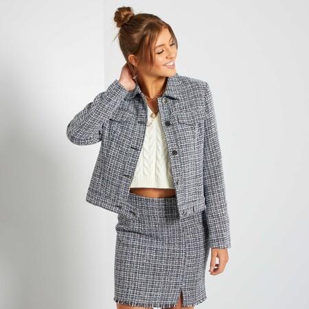 Cazadora De Tweed Minifalda Conjunto Kiabi