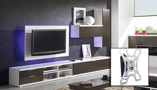 Soportes de pared para Smart TV - inclinación y giro