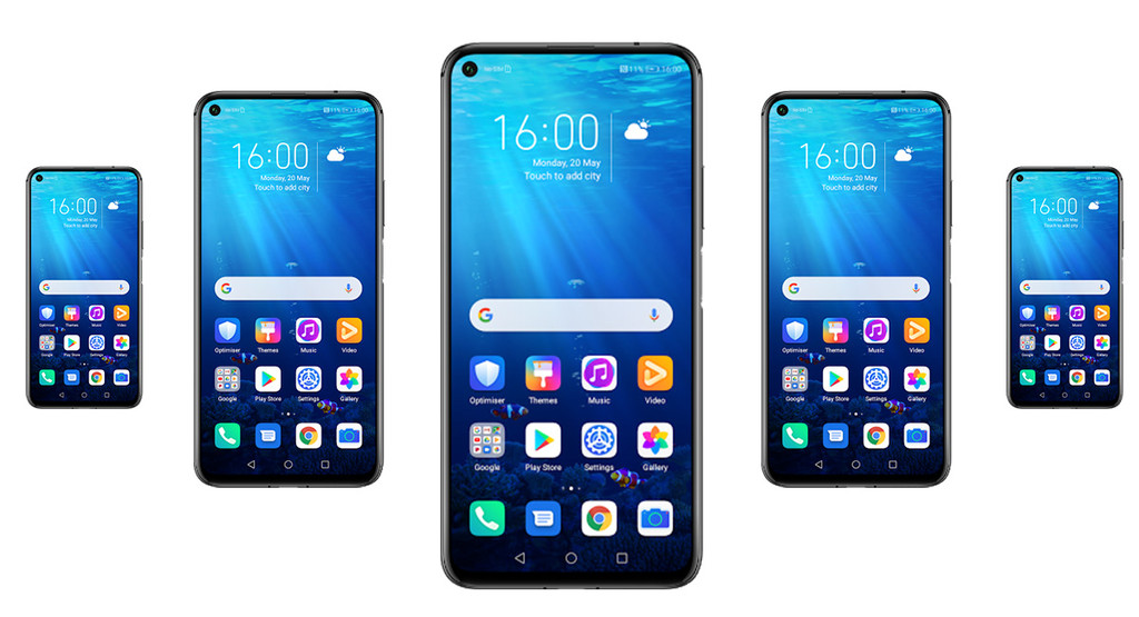 Ein Huawei nova 5T Pro wird Android in Enterprise zeigt ihr aussehen und einige technische daten