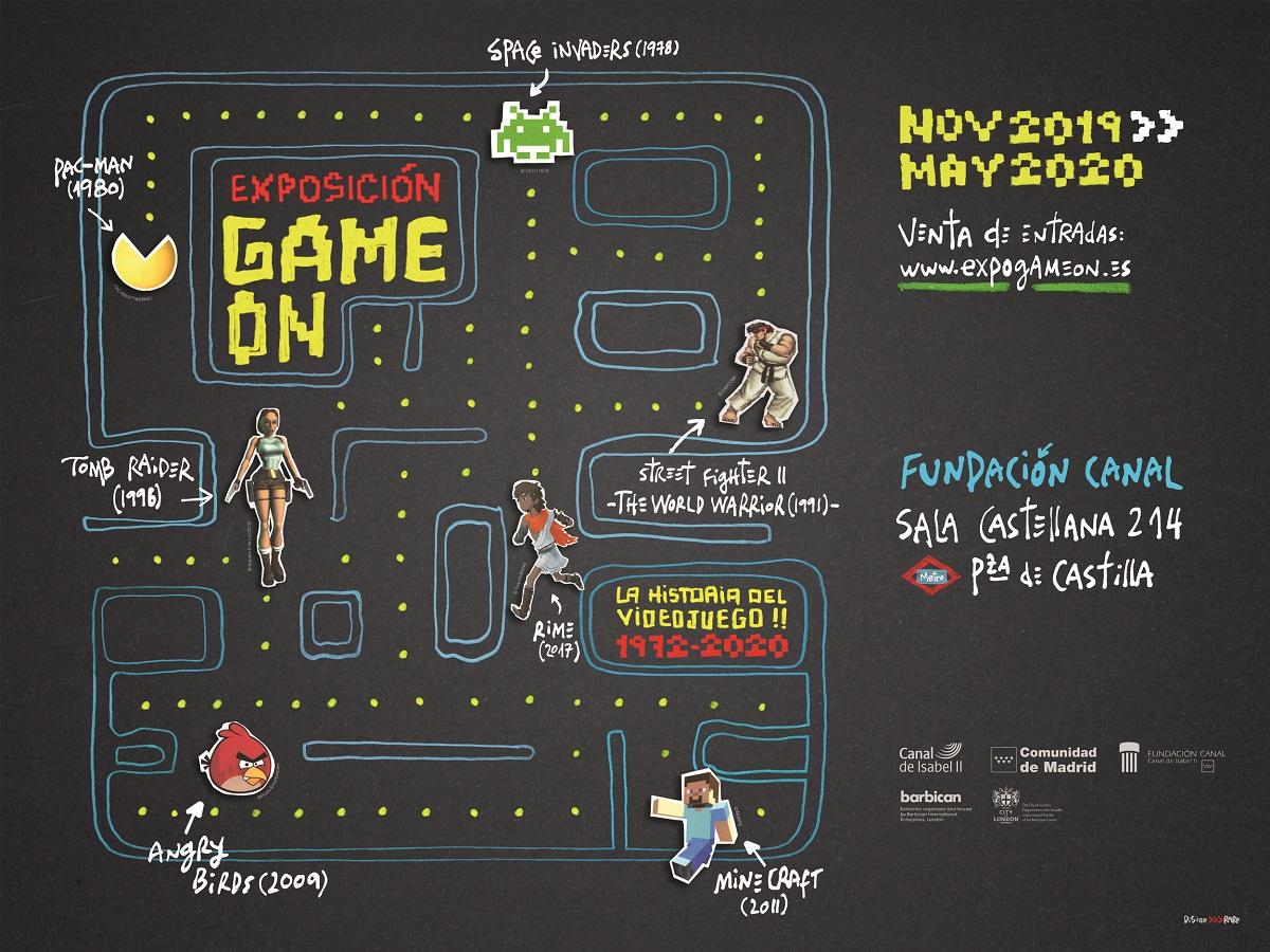 Entrada a la exposición Game On: La historia del videojuego