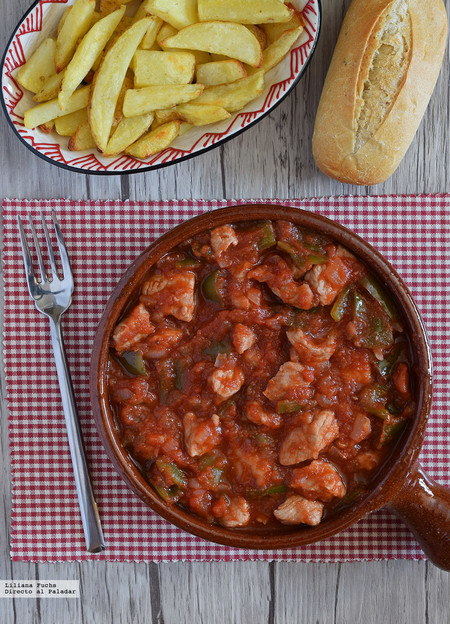 Magra con tomate. Receta tradicional murciana
