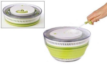 Centrifugador de ensaladas que se pliega