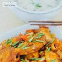 Pollo agridulce estilo asiático. Receta