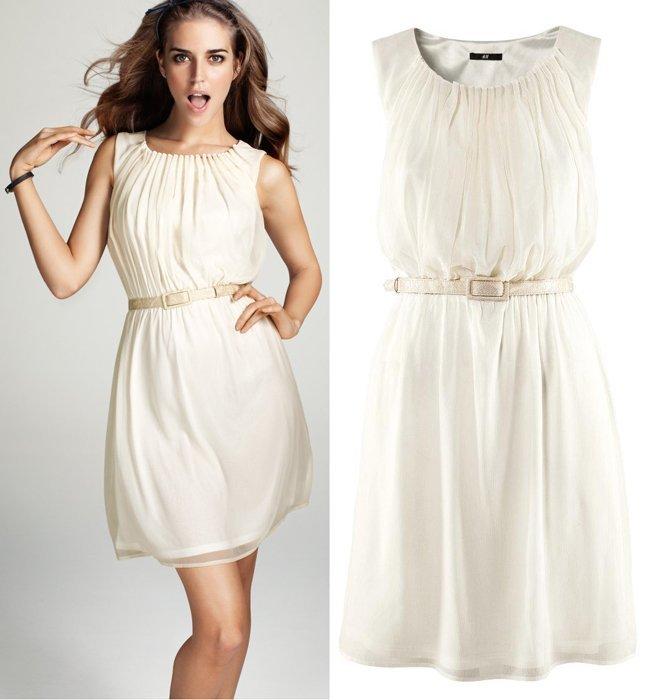HM vestido blanco
