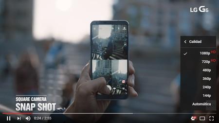 LG G6 grabar vídeos