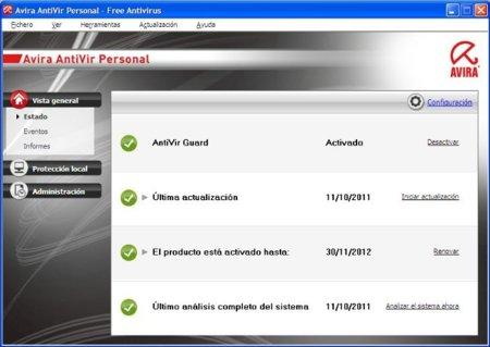 Avira Free Antivirus 2012 ya está disponible la nueva versión