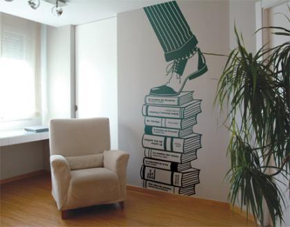Complementos decorativos para lectores: vinilos adhesivos textuales