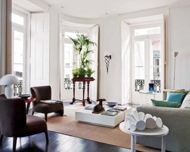 Estilo moderno y antigüedades en un apartamento de Lisboa