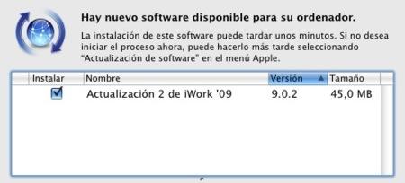 Actualización 9.0.2 de iWork'09 ya disponible