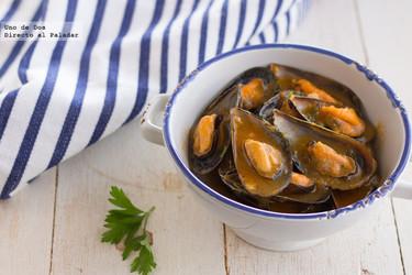 Mejillones en salsa picante, receta fácil, rápida y saludable