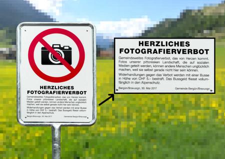 """Prohibido hacer una foto a este pueblo tan bonito """"por el bien de la humanidad"""""""