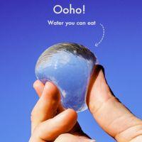 Un envase de agua comestible ¿Sustituirá a las botellas de plástico?