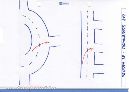 Cómo se circula en glorietas y rotondas