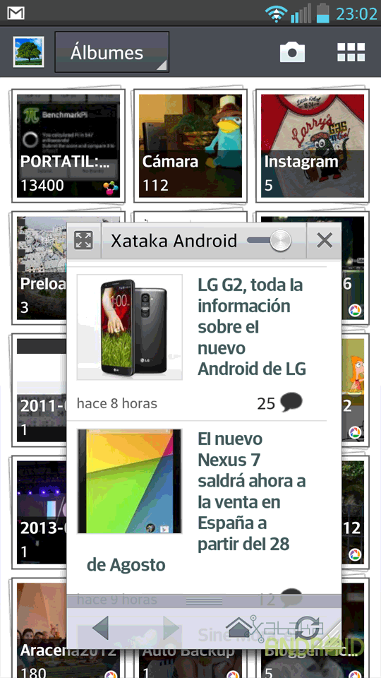 LG Optimus G Pro, capturas de pantalla