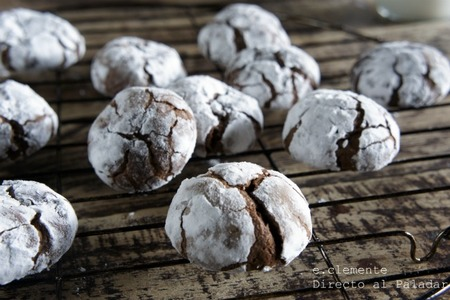Galletas crinkles de chocolate. Receta