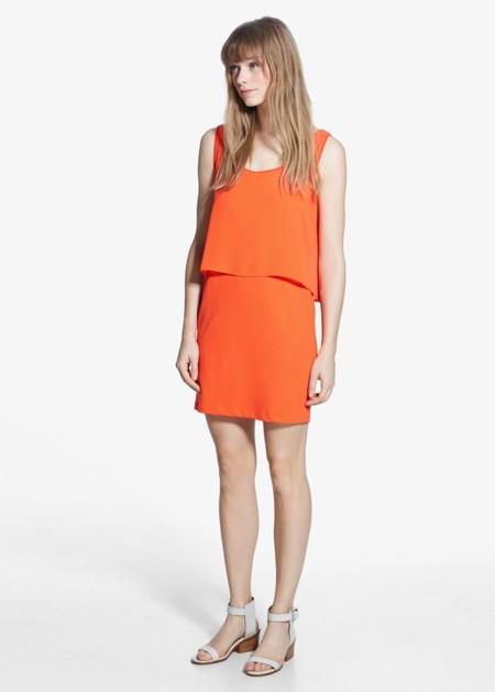 Vestido Mango Naranja