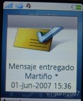 Ya funciona el aviso de mensaje enviado en Movistar
