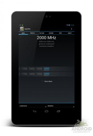 Nexus 7 overclock 2.0Ghz