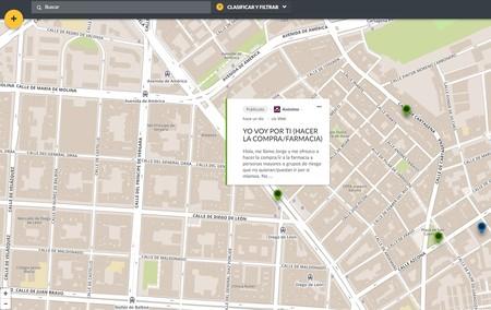 Frena la Curva, el mapa ciudadano que conecta a voluntarios y personas que necesitan ayuda