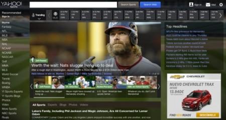 Yahoo rediseña siete de sus secciones principales