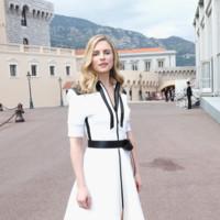 Brit Marling en el desfile de Louis Vuitton