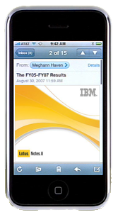 IBM confirma que lanzará una versión de su Lotus Notes para el iPhone