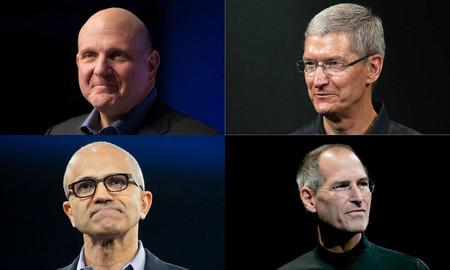 ¿Es Tim Cook el Ballmer de Apple y es Nadella el Jobs de Microsoft?