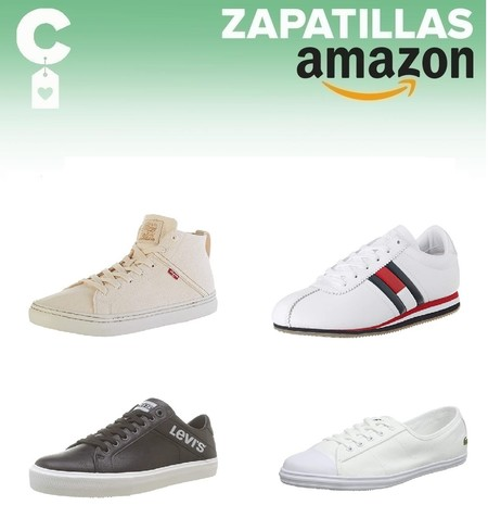 Chollos en tallas sueltas de  zapatillas Geox, Levi's, Tommy Hilfiger o Lacoste en Amazon