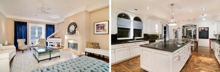 Salón y cocina de Tori Spelling