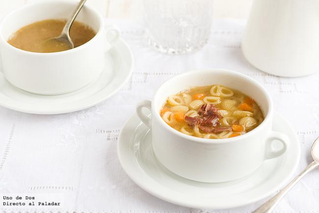 Receta de sopa casera de carne