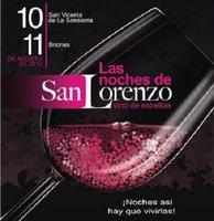 Vino y ocio gratis en 'Las Noches de San Lorenzo' de Briones y San Vicente de la Sonsierra