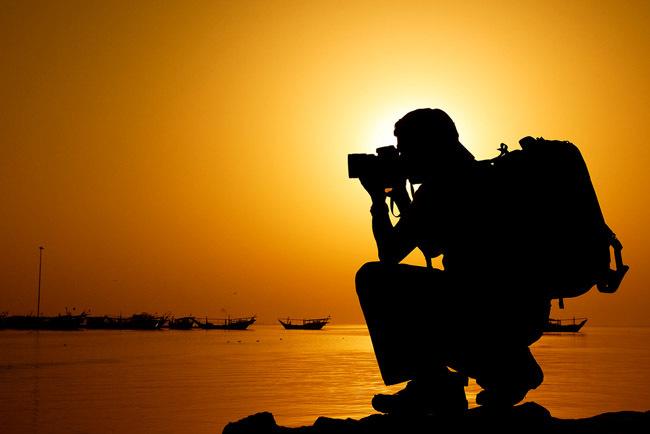 fotografo junto al mar