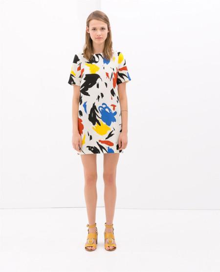 Zara clon Celine vestido primavera 2014