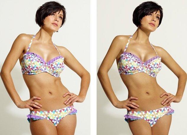 Campaña de bikinis muestra que el Photoshopping no es imprescindible