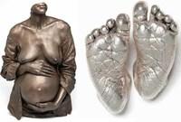 Esculturas de tu embarazo y de los pies de tu bebé