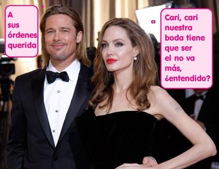 Brad Pitt ese pedazo de wedding planner, ¡que no se respire miseria en la boda del año!